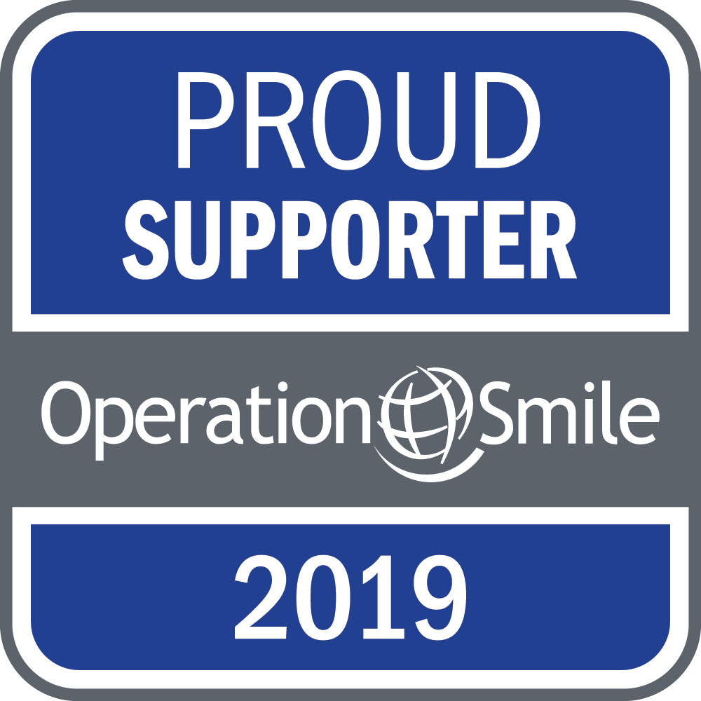 Proud supporter Operation Smile 2019