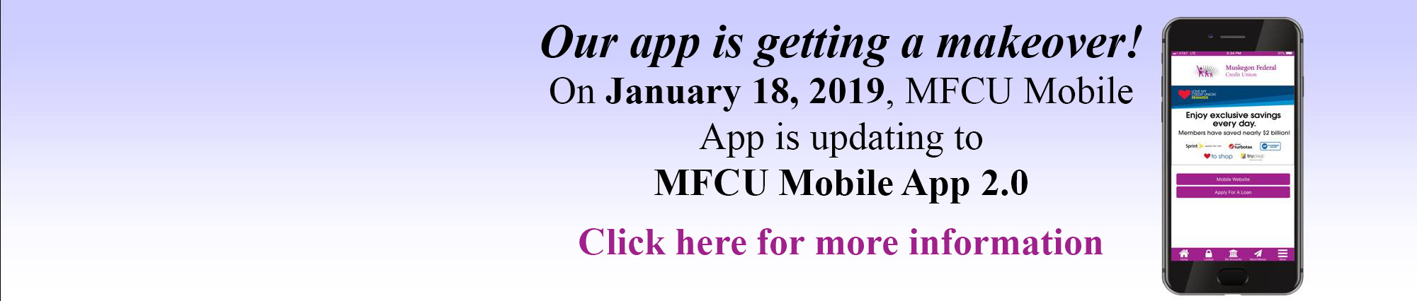 OUR APP IS GETTING A MAKEOVER. ON JANUARY 18